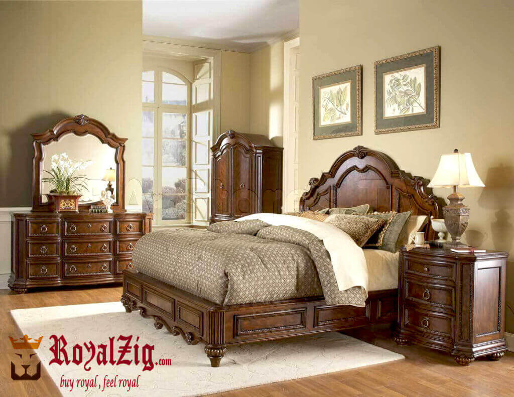 bedroom sets king size hand carved teak wood 1024x791 Online in India