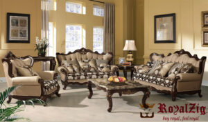 3 Pieces Living Room Sofa Set Royalzig Collection Online in India