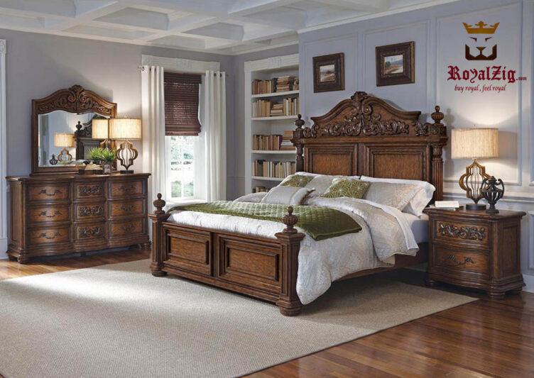 Antique-European-Bedroom-Set Brand Royalzig Online in India