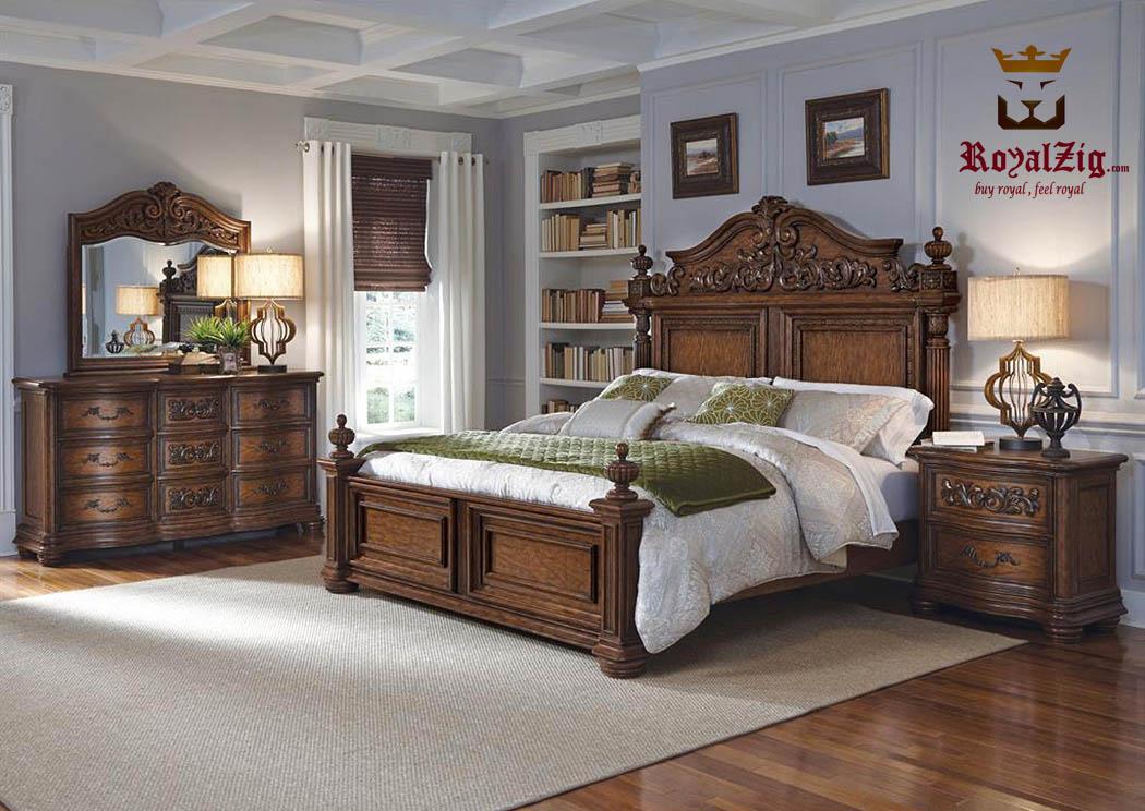Antique-European-Bedroom-Set-RABS-01 Brand Royalzig Luxury Furniture