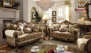 Antique European High Carving Ottoman Sofa Set Online in India