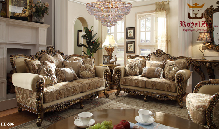 Antique European High Carving Ottoman Sofa Set Online in India