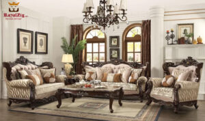 Antique Style Living Room Sofa Set Brand Royalzig Online in India