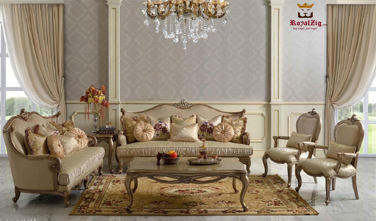 Basavanagudi Hand Carved Designer Sofa Set Online in India