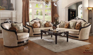 Beautiful Low Carving Sofa Set Brand Royalzig