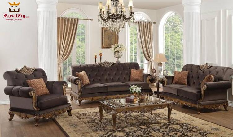 Beautiful Low Carving European Sofa Set Online in India