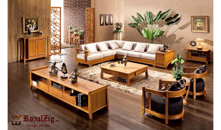 Beautiful Solid Wood Sofa Set Online in India