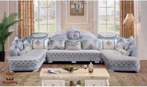 Boat Club Designer Hand Carved Corner Sofa Online in India