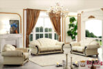 Classic Designer Tufted Wooden Sofa Set