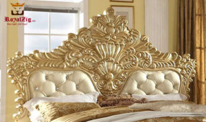 Classical Style Golden Bed Online in India