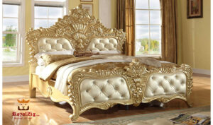 Indian Classical Style Golden Bed