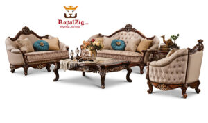 Classical Style Hand Carved Luxury Sofa Set Online in India
