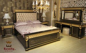 Cleopatra Luxury Bedroom Set Brand Royalzig Luxury Furniture