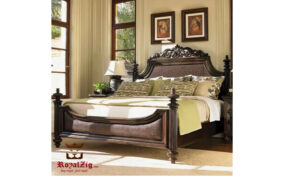 Ferro Walnut Antique Wooden Carved Bed 2 Barnd Royalzig , Buy Royal , Feel Royal;