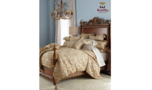 French Crafted Headboard Royal Bed Online in India