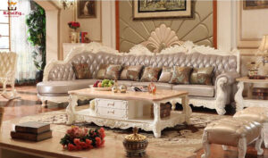 Gopalpuram Designer Hand Carved Sofa Set Brand Royalzig