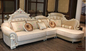 Hand Carved European Style Corner Sofa Set Online in India