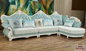 Hand Carved Luxury Corner Sofa Set Online in India