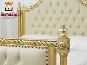 Imperial French Baroque Style Carving Bed-Brand Royalzig Online in India