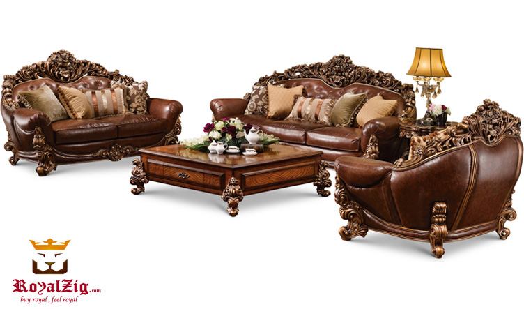 Indian Classical Style Sofa Set Brand Royalzig Online in India
