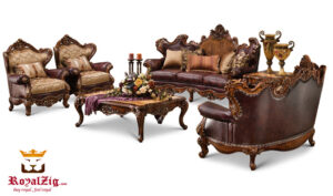 Indian Classical Style Maharaja Sofa Set Brand Royalzig Online in India