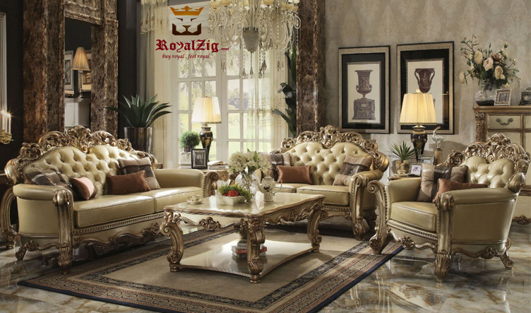 Indian Classical Style Royal Sofa Set Online in India
