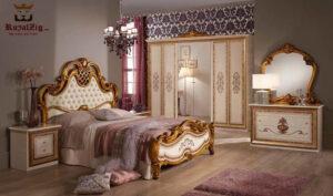 Italian Style Golden White Bedroom Set Brand Royalzig Online in India