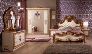 Italian Style Golden White Bedroom Set Brand Royalzig Online in India