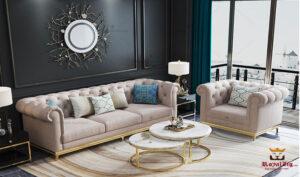 Italian Style Luxury Stainless Steel Sofa Set Brand Royalzig Online in India