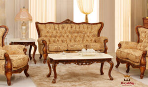 Koramangala Hand Carved Designer Sofa Set Online in India