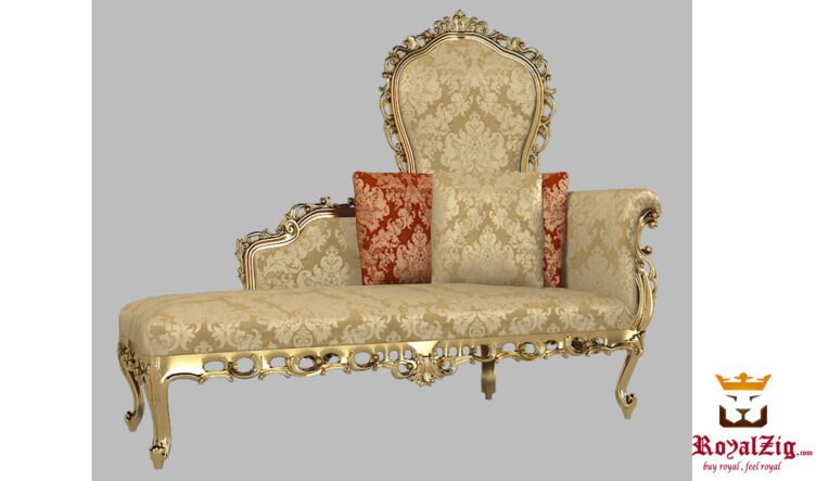 Luxury Hand carved Italian Style chaise Lounge