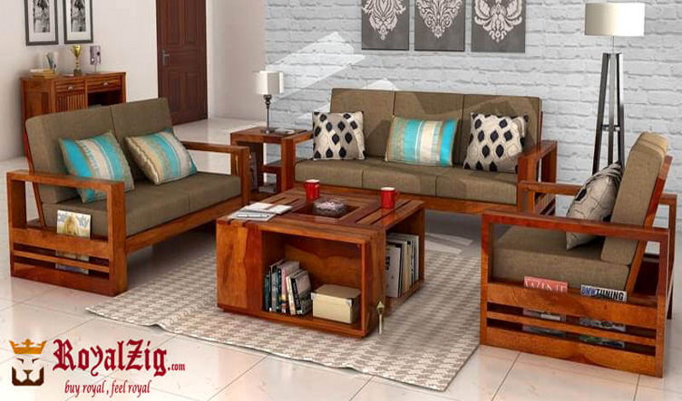 Natural Color Rosewood Sofa Set Online in India