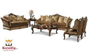 European Style Hand Carved Sofa Set Brand Royalzig