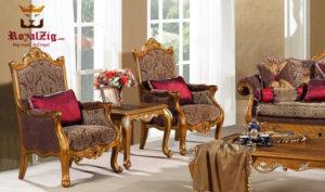 Royal Golden Sofa Set Online in India
