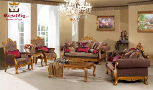 Royal Golden Sofa Set Online in India