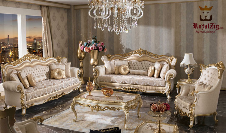 Shah Imperial Carving Sofa Set Brand Royalzig Online in India