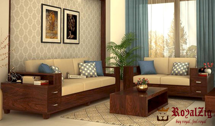 Solid Rosewood Modern Sofa Set Online in India