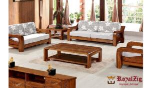 Teak Wood Classic Sofa Set