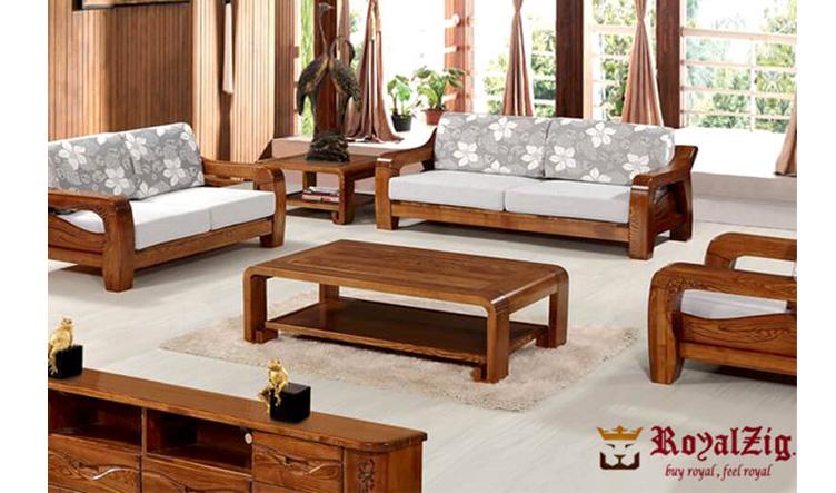 Teak Wood Classic Sofa Set Online in India