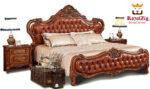 Tudor Antique Hand Carved Bed Brand Royalzig Luxury Furniture Tag Line - Buy royal , Feel royal