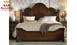Udaipur Antique Solid Teak Wood Panel Bed Brand Royalzig Online in India