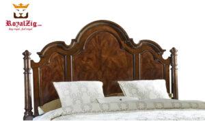 Udaipur Antique Solid Teak Wood Panel Bed Brand Royalzig Online in India