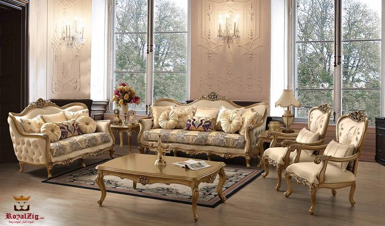 Ulsoor Hand Carved Designer Sofa Set Brand Royalzig Online in India
