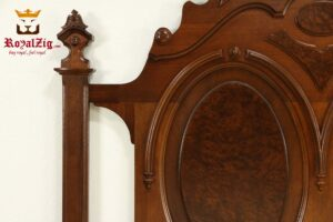 Victorian Antique Carved Bed Brand Royalzig Online in India