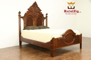 Victorian Antique Carved Bed Brand Royalzig Online in India