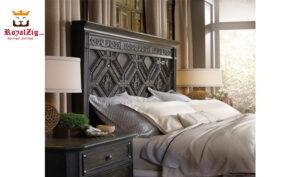Vintage Panel Bed Handcrafted Grade 1 Teak Wood Brand Royalzig Luxury Furniture Buy Royal, Feel Royal