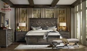 Vintage Panel Bed Handcrafted Solid Teak Wood Brand Royalzig Online in India