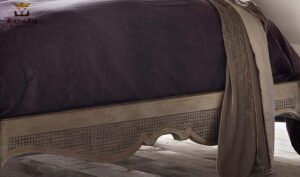 Anglo Indian Leafed Carving Luxury Bed Brand Royalzig Buy Online in India