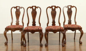 Anglo Indian Style Hand Carved Dining Chair