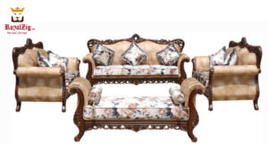 Ankleshwar Handicraft Teak Wood Sofa Set Brand Royalzig Handicrafts